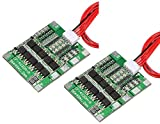 TECNOIOT 2pcs 4S 30A 14.8V Li-Ion Lithium Battery PCB BMS 18650 Charger Protection Board