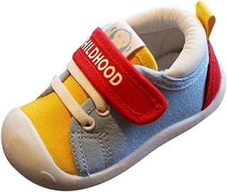 Luckycat Zapatos Bebe Niño Niña Zapatillas De Lona Moda Zapatillas De Deporte para BebéS Recién Nacidos Zapatillas Deportivas para Niños, Niñas, Bebés, Cordones, Suela Suave