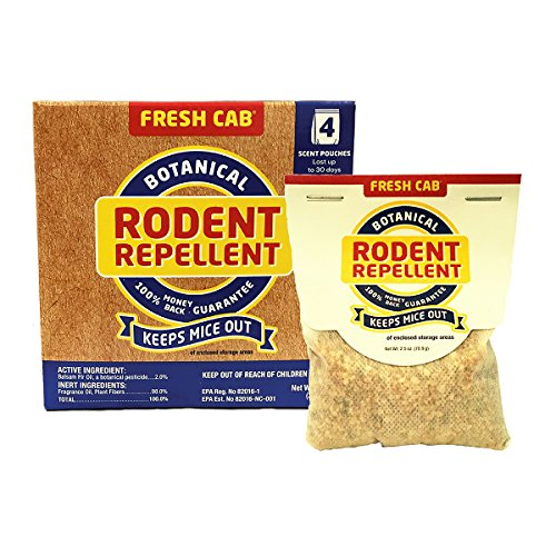 Fresh Cab Rodent Repellent; Quickly Repelling Pests from Treated Areas; Preventing...