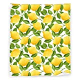 Lemon Yellow Fleece Blanket Throw Blankets for Decoration, Soft Cozy Lightweight Bed Blanket for Kids Adults Women Gift,60X50 Inch