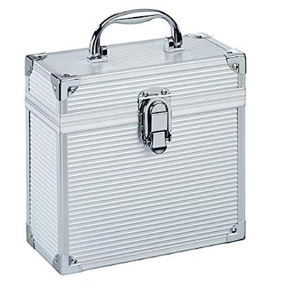 "Hama Record Case for 7"" Records Aluminium Look Music DJ VJ Tidy Arranged Silver"