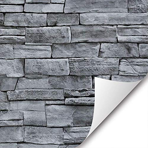 17.71' Wide x 393.7' Long Peel and Stick Wallpaper Stone Self Adhesive Wallpaper Easily Removable Wallpaper Brick Wallpaper Self-Adhesive Wallpaper Decorative Easy to Apply Peel Stick