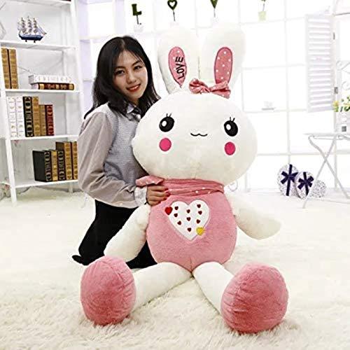 DINEGG Großes süßes Schlafen mit Plüschspielzeug Obst Bunny Liebe Kaninchen Puppe Reis Puppe Firma Aktivität Puppe 120cm (Farbe: grün1, Größe: 150 cm) YMMSTORY (Color : Pink1, Size : 40cm)