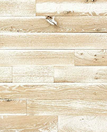 wodewa Wandverkleidung Holz selbstklebend 3D Vintage Shabby Look Wandpaneele 1m² Moderne Wanddekoration Holzverkleidung Holzwand Wohnzimmer Küche Schlafzimmer