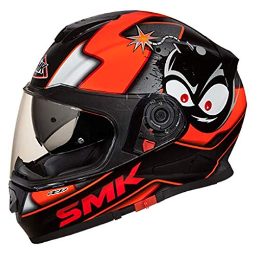 SMK MA271 Twister CARTOON Graphics Pinlock Fitted Full Face Helmet With Clear...