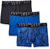 DKNY Men's Stretch Mesh Boxer Brief 3-Pack, Limoges/Black/Camo-Limoges, X-Large