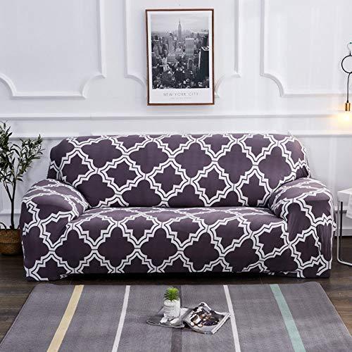 LCDIEB Funda de sofá Funda de sofá de 24 Colores Funda Impresa para sofá Capa para Sala de Estar Funda de sofá copridivano 1/2/3/4 plazas, Color 17,3, plazas 195,230cm