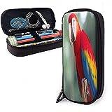 Coloré Parrot PU En Cuir Crayon Cas Personnalisé Compartiment Sac À Cosmétiques...