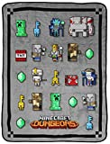 Jay Franco Minecraft Dungeon Mobs Throw - Measures 46 x 60 inches, Kids Bedding - Fade Resistant Super Soft Fleece (Official Minecraft Product)