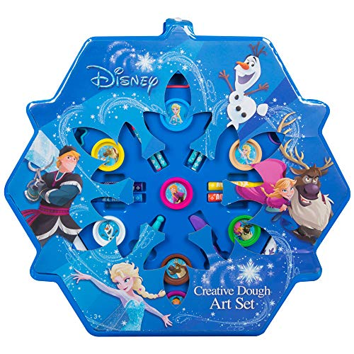Maximustrade Die Eiskönigin - Frozen Kreativset Kneteset | Kinder Malset | 32 Teile | Anna ELSA Olaf | Malvorlage Bastelset | Geschenkset Mädchen