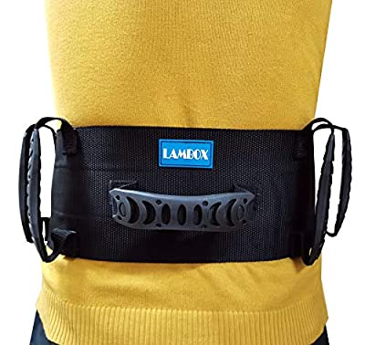 LAMBOX Gait Belt-Walking Transfer Belt with Handles-Medical Nursing Safety Patient Assist for Occupational & Physical Therapy, Seniors with Metal Buckle from BESTPACK