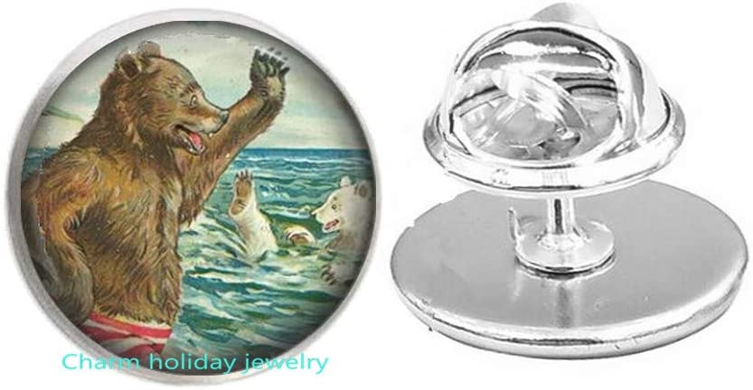 Bear Pin Brooch Wearable Art Inventory cleanup selling sale Animal Jewelry Jew Animer and price revision