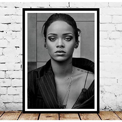 Danjiao Nt866 Poster Druck Geschenk Rihanna Pop Hip Hop Musik Sänger Star Foto Ölgemälde Wandkunst Leinwand Bild Wohnzimmer Wohnzimmer Dekor Wohnzimmer 40x60cm