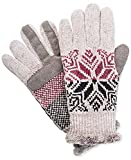 Isotoner Signature Women's smarTouch Snowflake Gloves Grey