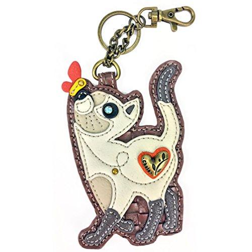 Chala Key Fob/Coin Purse - Slim Cat, Multicolored, Small
