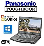 """Refurbished Panasonic CF-53 Toughbook Rugged Laptop - 14"""" Touchscreen - Core i5 (Turbo Boost up to 3.2GHz) New Huge 1TB Solid State Drive - 16GB RAM - Windows 10 Pro + MS Office - WiFi - DVD/CD-RW"""