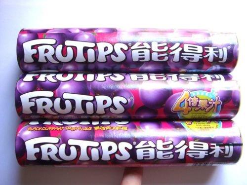 Nestle Frutips Blackcurrant Gummy Candy Pastilles 3 packs 125g Big Size