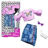 Barbie Camisa Vintage & Falda de Jeans Mattel FXJ02 | Moda Ropa de la Muñeca