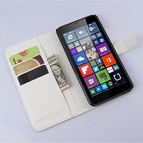 Custodia Microsoft lumia 640XL,Cover Microsoft lumia 640XL,NEKOYA Custodia NOKIA lumia 640XL Portafoglio con Interno TPU Antiurto, Supporto Stand, Wallet Case per NOKIA lumia 640XL,con Magnetico Snap