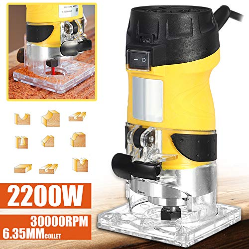Best Prices! Electric Router, 2200W 30000RPM Electric Trimming Machine Joiner Wood Edge Trimmer
