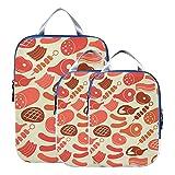 Organisateurs d'emballage de voyage Petit déjeuner créatif Viande...