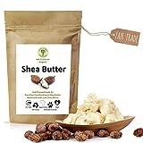 Mantequilla de karité marfil: prensada en frío (grado A +) pura y pura 250 g - fresca, sin refinar: el mejor producto para el cuidado de la piel vegana de Fair Trade