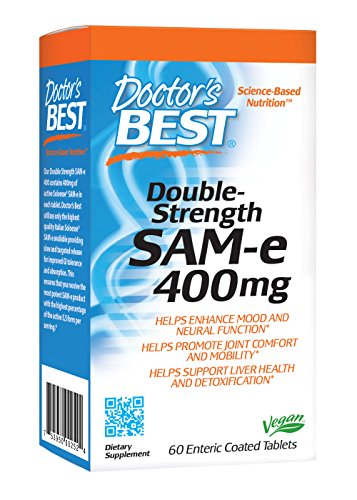Doctor's Best SAM-E 400 Tablets, 60 Count