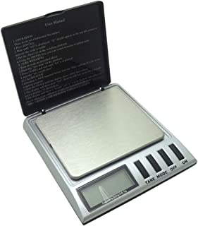 Báscula de pesaje, básculas electrónicas 0,1 g de Alta precisión con Pantalla LCD retroiluminada Básculas de Bolsillo portátiles, 500 g / 0,1 g