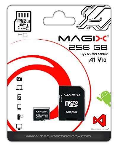 Micro SD Card MAGIX HD Series Class10 V10 + SD Adapter UP to 80MB/s (256GB)