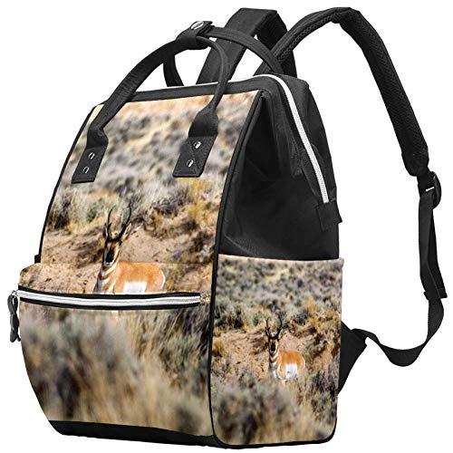 Grand sac à langer multifonction pour bébé, sac à dos, sac à dos, sac à dos, sac à dos pour maman et papa, animal élan