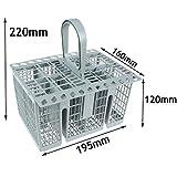 SPARES2GO - Cestello per posate da lavastoviglie, con manico e coperchio per lavastoviglie SMEG