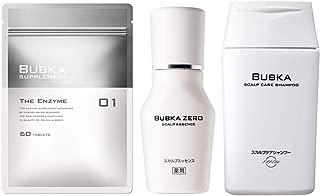 【医薬部外品】BUBKA(ブブカ)薬用 スカルプエッセンス 育毛剤 BUBKA ZERO (ブブカ ゼロ)3点セット(薬用 BUBKA ZERO+BUBKAスカルプケアシャンプー+サプリメント THE ENZYME (ザ エンザイム))