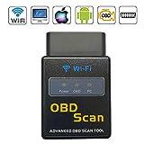VAWcornic WiFi Professioneller OBD2 Diagnosegerät, Auto Diagnose OBD2 Stecker Auto Diagnosegerät OBD II Kfz Adapter Kompatibel mit IOS, Android, Windows