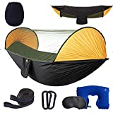Camping Hammock with Mosquito Bug Net,Hammock Tents for Camping,Tree Hammocks for Outside,600LB Double Camping Hammock for Trees with Straps and Carabiners,Nylon Hammock for Survival,Hunting&More