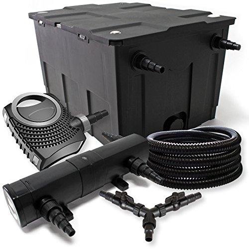 SunSun Filter Set 60000l Teich 36W Teichklärer NEO10000 80W Pumpe 25m Schlauch