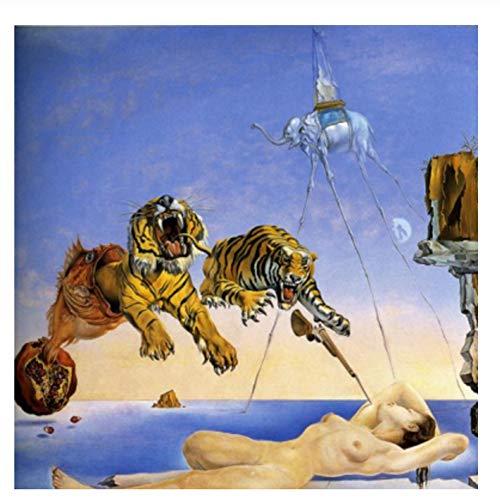 Salvador Dali Toile Art Reproduction Clbre Artiste Mur Art...