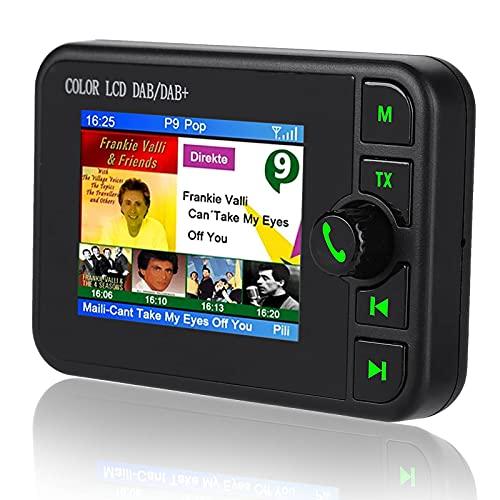 """DAB/DAB+ Autoradio Adapter, 2,4\"""" LCD Display mit Bluetooth Freisprecheinrichtung + DAB Transmitter + FM Transmitter + Aux in/Out + TF Karte Musik Spielen + KFZ Ladegerät"""