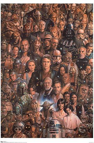 Trends International Star Wars Saga - Juego de Mesa [Importado de Alemania], Premium sin Marco, Multicolor, 22.375' x 34', 1, 1