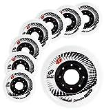 Inline Skate Wheels Hyper Concrete +G - 8 Wheels - 84A - Sizes: 72MM, 76MM, 80MM - Freeride, Slalom, Fitness, Urban - Colors: White, Black, Orange, Green, Cyan, Red (White, 80MM)
