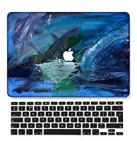FULY-CASE プラスチック製のウルトラスリムライトハードシェルケースカットアウトデザイン対応MacBook Pro 13インチRetinaディスプレイCD-ROMなしUSキーボードカバー A1425/A1502 (油絵 B 0585)