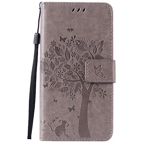 Nancen Compatible with Handyhülle LG Nexus 5X (5,2 Zoll) Flip Schutzhülle Zubehör Lederhülle mit Silikon Back Cover PU Leder Handytasche