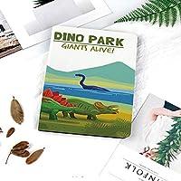 多彩なiPad 9.7 ケース PU レザー iPad 9.7 2018 第6世代 / iPad 2017 第5世代 / iPad air/iPad pro 9.7 / iPad air162 対応 ケー図案を焼き付ける湖と山の恐竜と生きている水泳と土地の恐竜アライブテーマ装飾