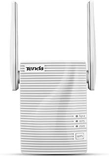 Tenda A15 Repetidor Extensor de Red WiFi (Dual Band 2,5Ghz 5GHz 100Mbps Puerto Fast Ethernet, Doble Antenas)