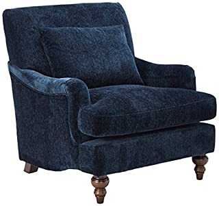 Coaster Home Furnishings Upholstered Accent Chair with Exposed Turned Legs and Attached Back Midnight Blue (B01NAEM3NY) | Amazon price tracker / tracking, Amazon price history charts, Amazon price watches, Amazon price drop alerts