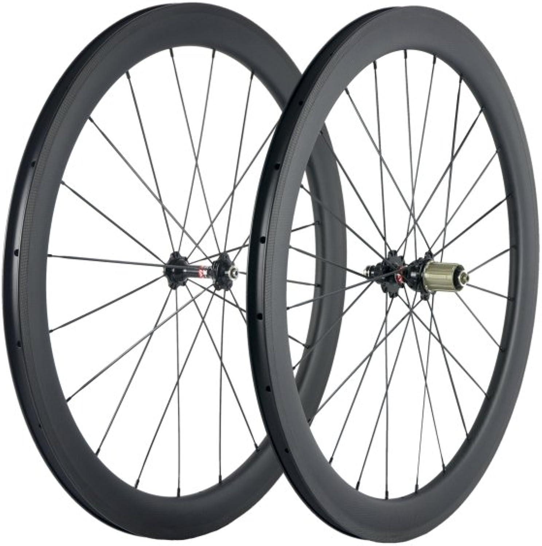 Sunrise Bike Full Carbon Bicycle Road Wheelset 700c Clincher 25mm Width U Shape Rim