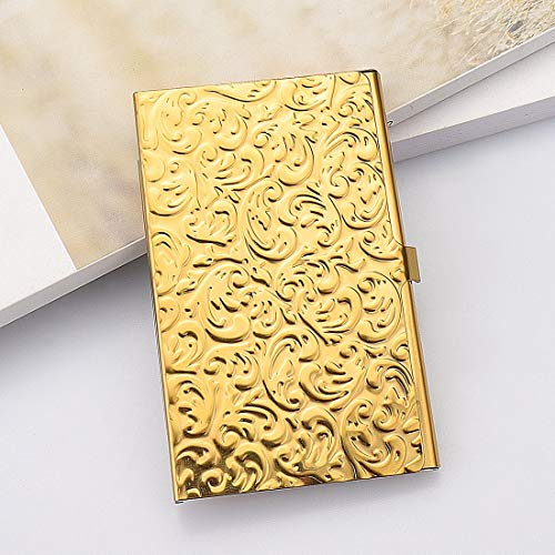 Gold Embossed Damask Business Card Case Photo #2