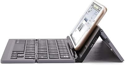HDJC Dreifach gefaltete Tastatur Aluminium Faltbare Bluetooth-Tastatur Universelle Faltbare Reisetastatur mit Halterung Black Schätzpreis : 90,00 €
