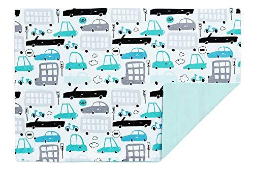 Kissenbezug Kissenhülle 40x60 cm mit Reißverschluss aus 100% Baumwolle, hergestellt in Europa (Autos)
