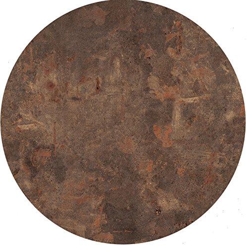 Werzalit Tischplatte, Dekor Rostbraun 60 cm rund wetterfest Ersatztischplatte Bistrotisch Stehtisch Tisch Gastronomie