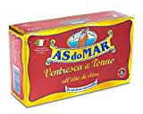 As do Mar Yellowfin Tuna Ventresca in Pure Olive Oil | 10 Pack | Imported from Italy | Wild Caught and Hand Selected | The Toro of Tuna | 100% Natural Ventresca Tuna | AsDoMar | 125 Gr. Can (4.4 oz.)
